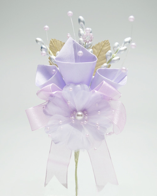 "7"" Lavender Large Silk Calla Lily Corsage Flowers - Pack of 12"