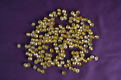 14mm Gold Crystal Octagon Prism Beads - Pack of 200