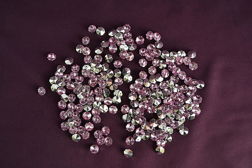 14mm Pink Crystal Octagon Prism Beads - Pack of 200