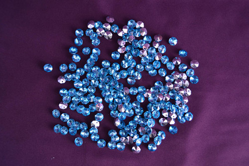 14mm Turquoise Crystal Octagon Prism Beads - Pack of 200