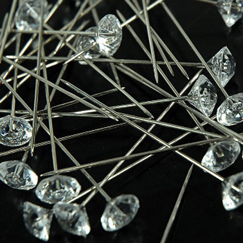 "2"" Clear Diamond Corsage Pins - Pack of 144 Pins"