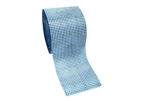 "4.5"" x 10 yards 24 Rows Blue Diamond Mesh Wrap"