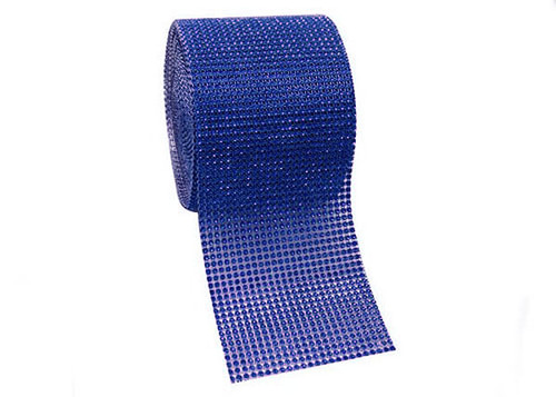 "4.5"" x 10 yards 24 Rows Royal Blue Diamond Mesh Wrap"