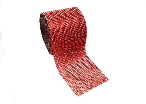 """4.5"""" x 10 yards 24 Rows Red Diamond Mesh Wrap"""