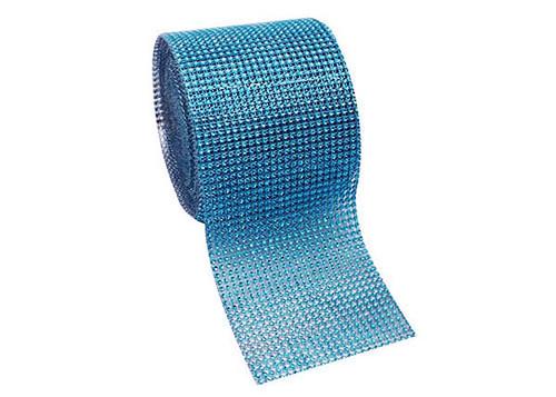 "4.5"" x 10 yards 24 Rows Turquoise Diamond Mesh Wrap"