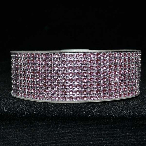 "1.5"" x 10 Yards Pink Diamond Mesh Ribbon - 5 Rolls of Rhinestone Bling Ribbon"
