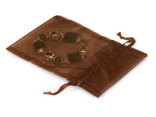 "4""x6"" Brown Organza Sheer Gift Favor Bags - Pack of 144"