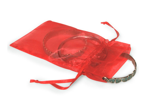 """4""""x6"""" Coral Organza Sheer Gift Favor Bags - Pack of 144"""