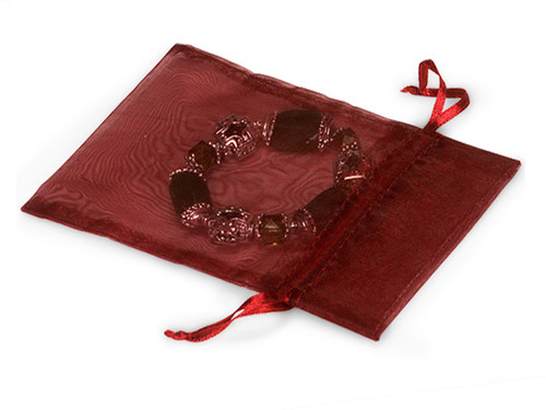 "4""x6"" Burgundy Organza Sheer Gift Favor Bags - Pack of 144"