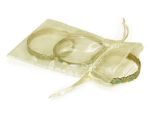 """4""""x6"""" Ivory Organza Sheer Gift Favor Bags - Pack of 144"""