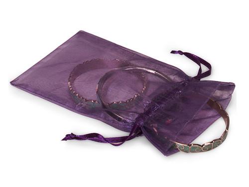 "4""x6"" Purple Organza Sheer Gift Favor Bags - Pack of 144"
