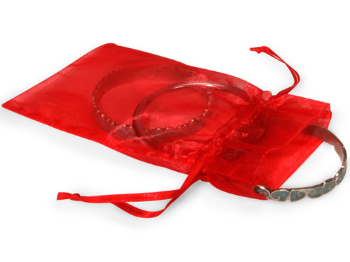 """4""""x6"""" Red Organza Sheer Gift Favor Bags - Pack of 144"""