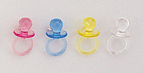 """1/2"""" Plastic Baby Shower Pacifier - Pack of 3456 Count (24 Gross)"""
