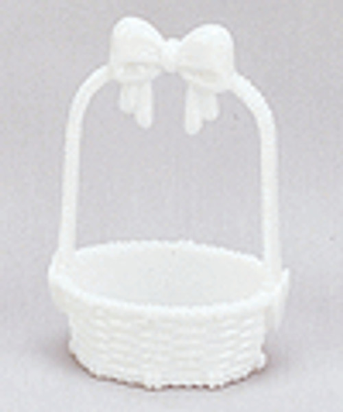 """3 1/4"""" White Plastic Bow Tie Basket - Pack of 288 Pieces"""