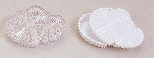 """4"""" Plastic Double Heart Shaped Favor Gift Box - Pack of 144 Count"""