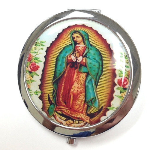 "3"" Guadalupe Compact Mirror - 12 Compact Hand Mirrors"