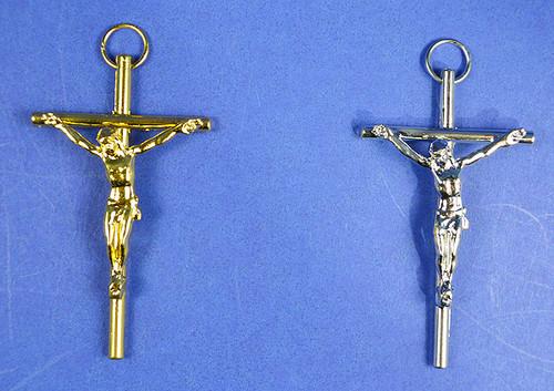 "3"" Catholic Metal Cross Pendants - Pack of 10 Pendants"