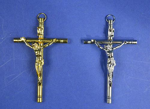 "4"" Catholic Metal Cross Pendants - Pack of 10 Pieces"
