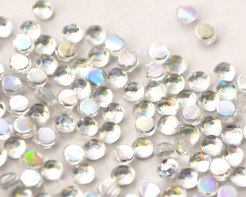 Iridescent AB Clear 4mm SS16 Wholesale Flat Back Acrylic Rhinestones - Pack of 1,000 Pieces