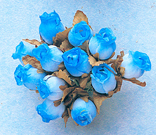 Turquoise Dry Polyester Rose - Pack of 144