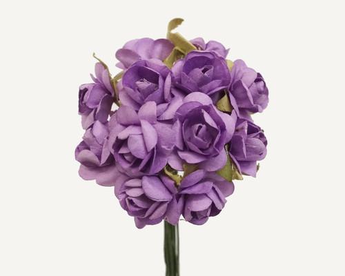 "3/4"" Lavender Medium Rose Craft Paper Flowers - Pack of 144"