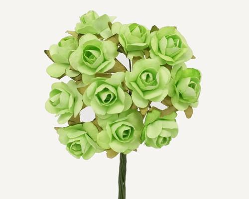 "3/4"" Mint Medium Rose Craft Paper Flowers - Pack of 144"
