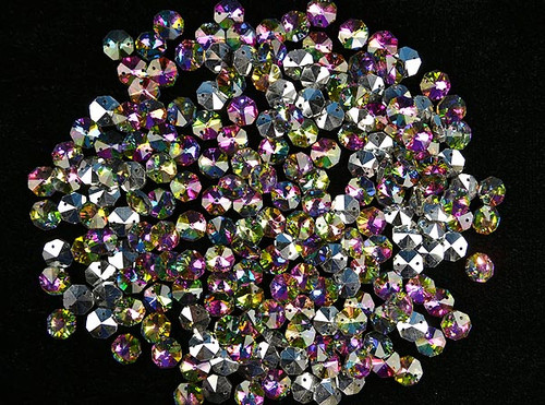 14mm Iridescent AB Fuchsia Crystal Octagon Prism Beads - Pack of 200