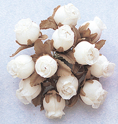Ivory Dry Polyester Rose - Pack of 144