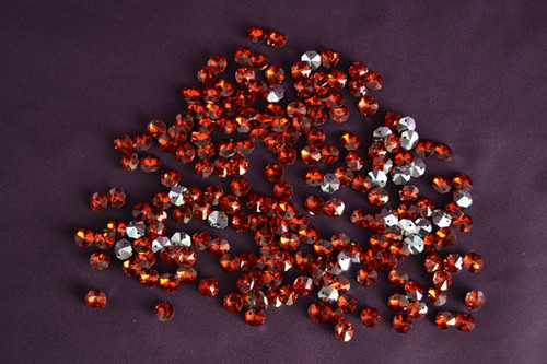 14mm Red Crystal Octagon Prism Beads - Pack of 200
