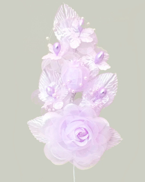 "6"" Lavender Silk Corsage Flowers with Pearl Spray - Pack of 12"