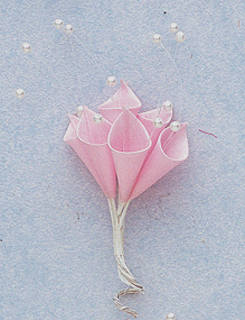 Pink Silk Calla Lily Flowers with Pearl - Pack of 144