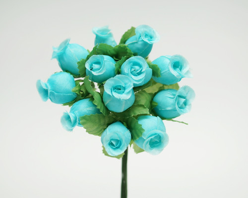 Aqua Polyester Rose - Pack of 144