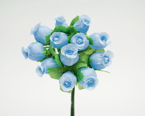 Blue Polyester Rose - Pack of 144