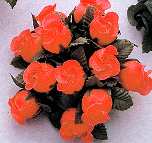 Coral Polyester Rose - Pack of 144