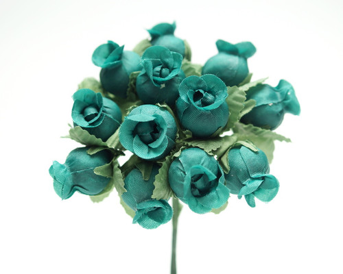 Emerald Polyester Rose - Pack of 144