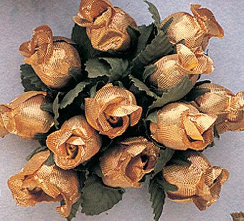 Gold Polyester Rose - Pack of 144