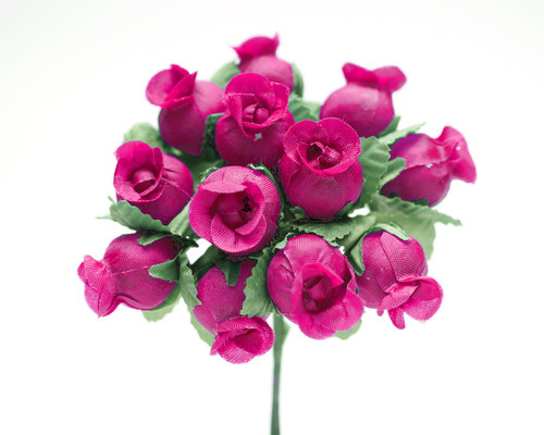 Fuchsia Polyester Rose - Pack of 144
