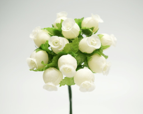 Ivory Polyester Rose - Pack of 144