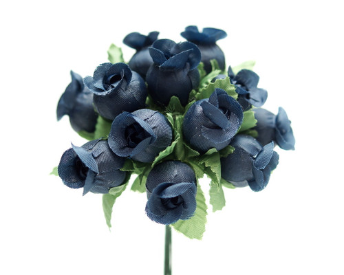Navy Blue Polyester Rose - Pack of 144