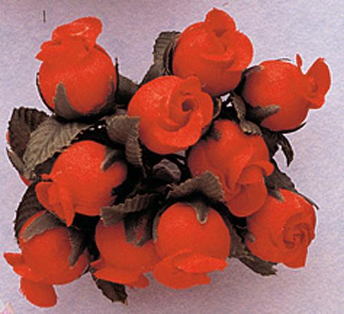 Orange Polyester Rose - Pack of 144