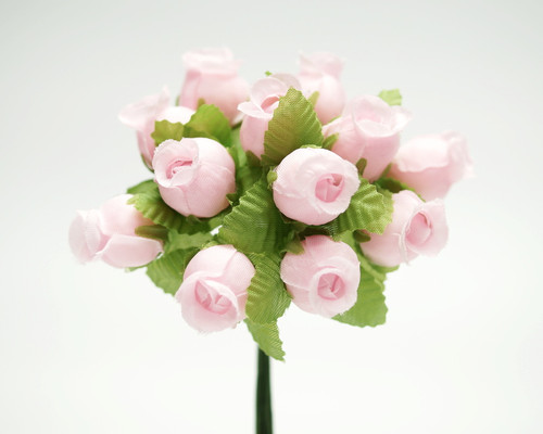 Pink Polyester Rose - Pack of 144