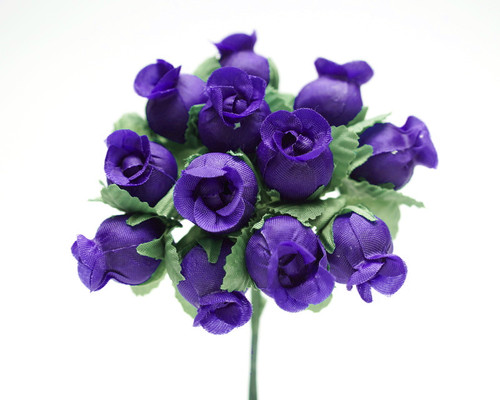 Purple Polyester Rose - Pack of 144