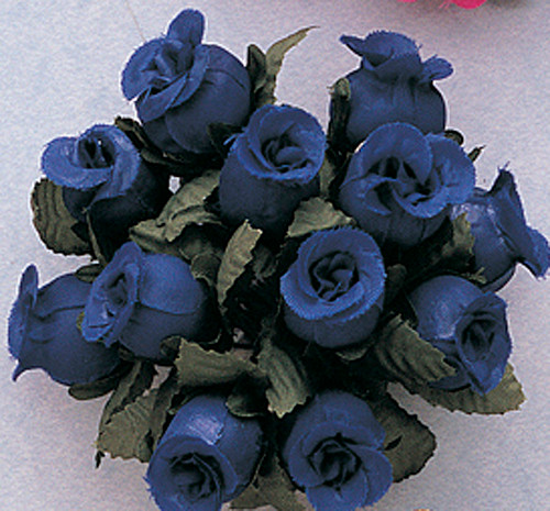 Royal Blue Polyester Rose - Pack of 144
