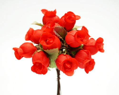 Red Polyester Rose - Pack of 144