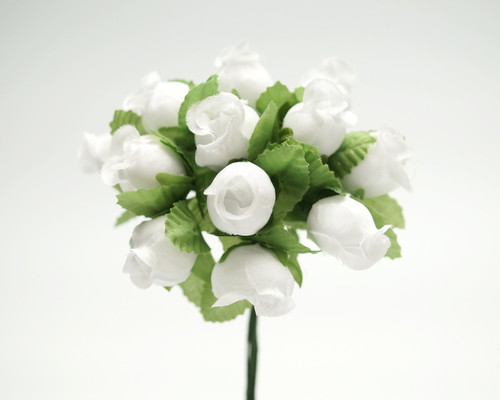 White Polyester Rose - Pack of 144