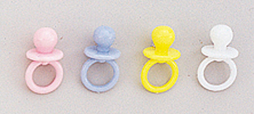"""3/4"""" Plastic Baby Shower Pacifier - Pack of 2880 Count (20 Gross)"""