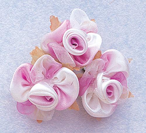 "1"" Lavender Satin Silk Flowers - Pack of 36"