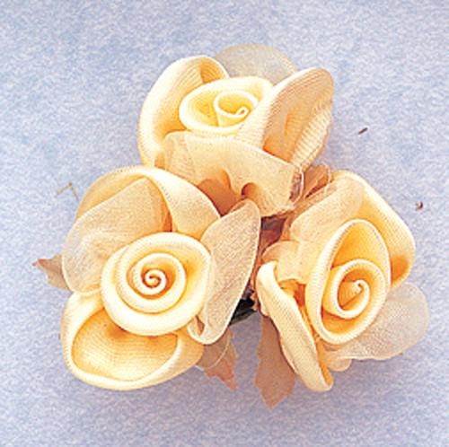 "1"" Banana Satin Silk Flowers - Pack of 36"
