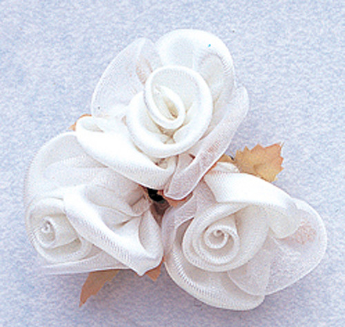 "1"" White Satin Silk Flowers - Pack of 36"