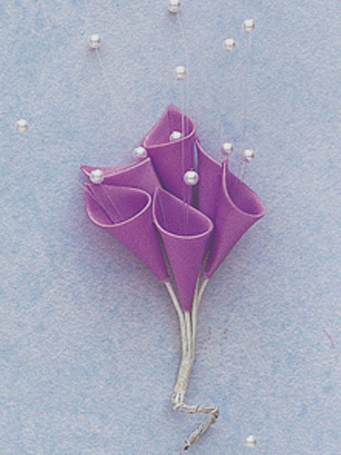 Lavender Silk Calla Lily Flowers with Pearl - Pack of 144